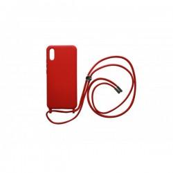 Silicone Case CrossBody for Xiaomi Redmi 9A - Red