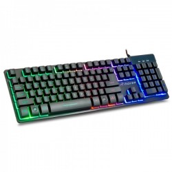 R-Horse FC-723 Waterproof Multimedia Wired Gaming Keyboard 3Led Backlight