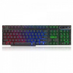 IMICE AK600 Blacklight Wired USB Keyboard Black