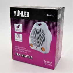 AIR HEATER WITH 2 LEVELS OF HEATING 2000W MUHLER HO-MFH-2013