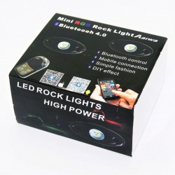 Bluetooth connection led rock lights high power