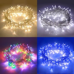 Christmas String Lights End-to-End Plug 8 Modes,Outdoor Waterproof UL Certificated Indoor Fairy Lights Halloween Garden Patio Wedding Christma Trees Parties Decoration