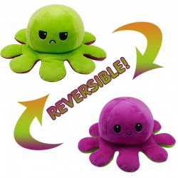 Reversible octopus shape, stuffed velvet and soft doll (One piece)
