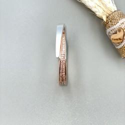 Women's Classic Stainless Steel Bracelet copper & White