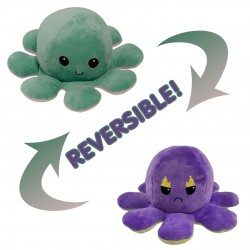 Reversible Fire eye octopus shape, stuffed velvet and soft doll (One piece)