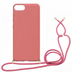 Eco-Friendly Back Cover Case with Strap for iPhone 7/8 (Coral)