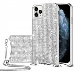 Luxury Case with Bodystrap for iPhone 11 Pro Max - Silver