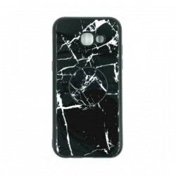 Silicone Case Black Marble with POP HOLDER for Samsung Galaxy A5 2017