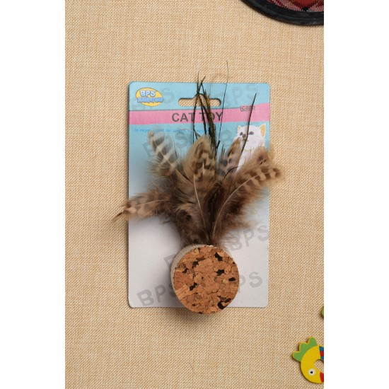 Pet toy, multi-shaped feather tail