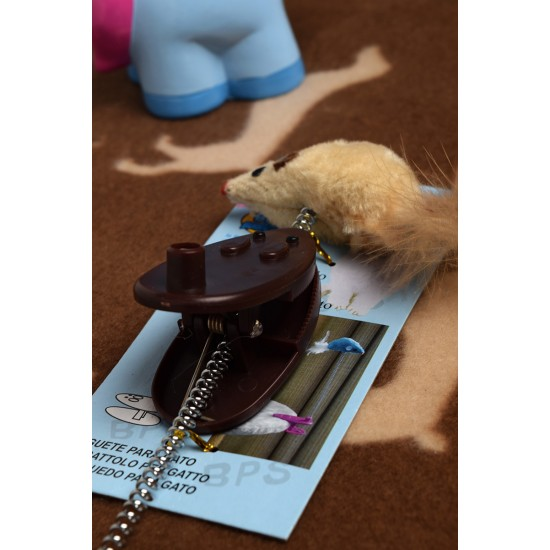 Pet toy, clip spring stick, fake mouse feather tail