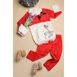 Girls' two-piece suit, high-neck two-color clothing