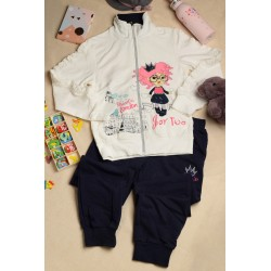 Girls' clothing suits, zipper shirts, jackets