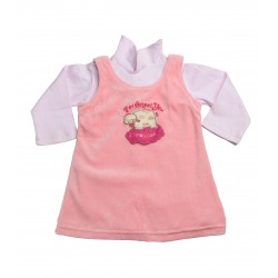 Girls' two-piece long sleeves with zipper on the back