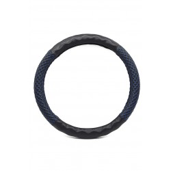 Car steering wheel protective cover, blue and black inlaid 38cm
